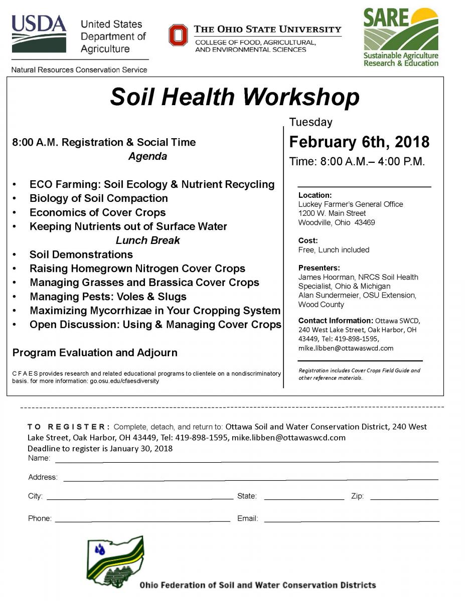 Ottawa County Soil Health Workshop Flyer