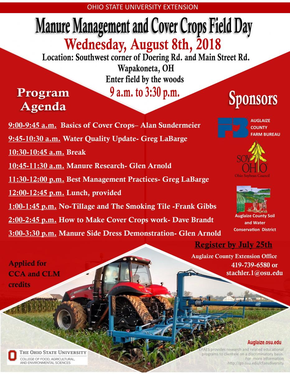 Manure Management and Cover Crop Field Night